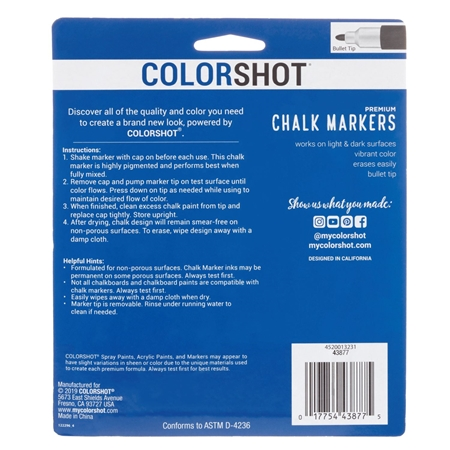 Picture of Premium Chalk Markers Basic 6 Pack color