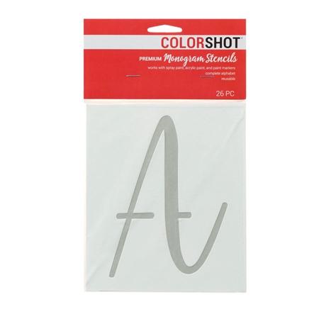 Picture of Premium Monogram Stencils Uppercase Script  26 Pack color