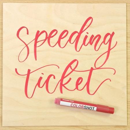 Picture of Premium Paint Marker Speeding Ticket color