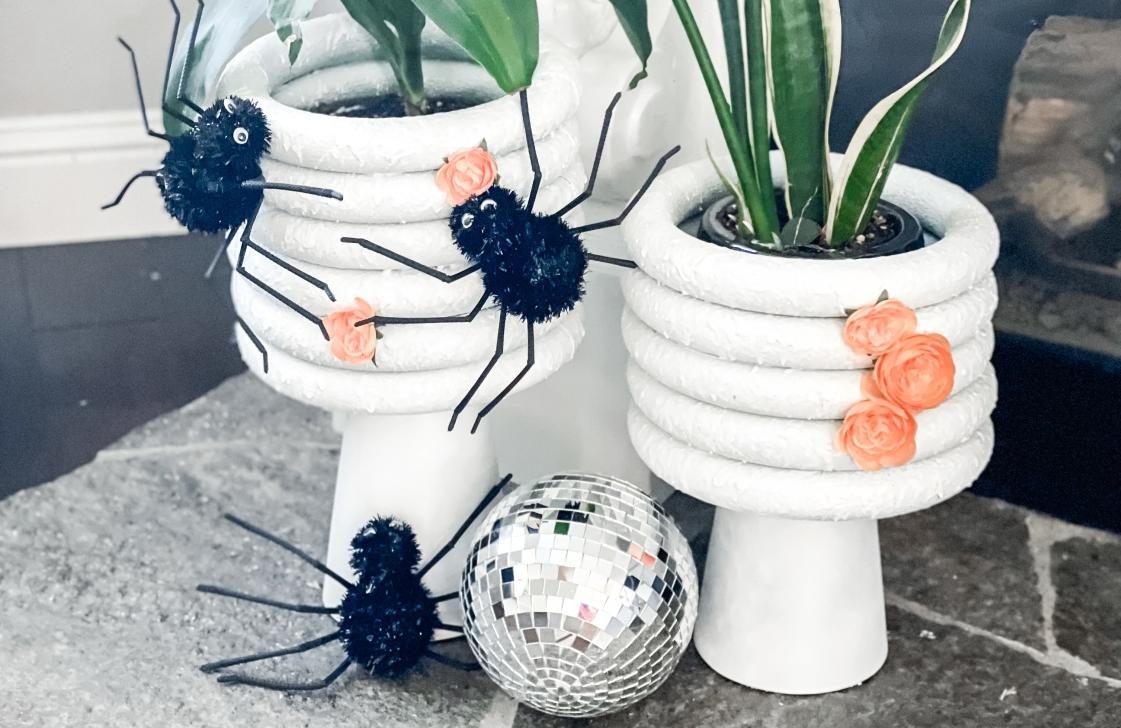 DIY Halloween Planters