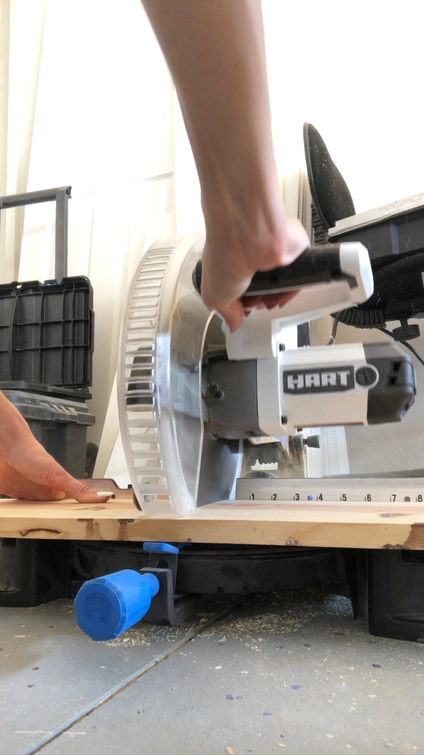 Measure and cut the wood panels